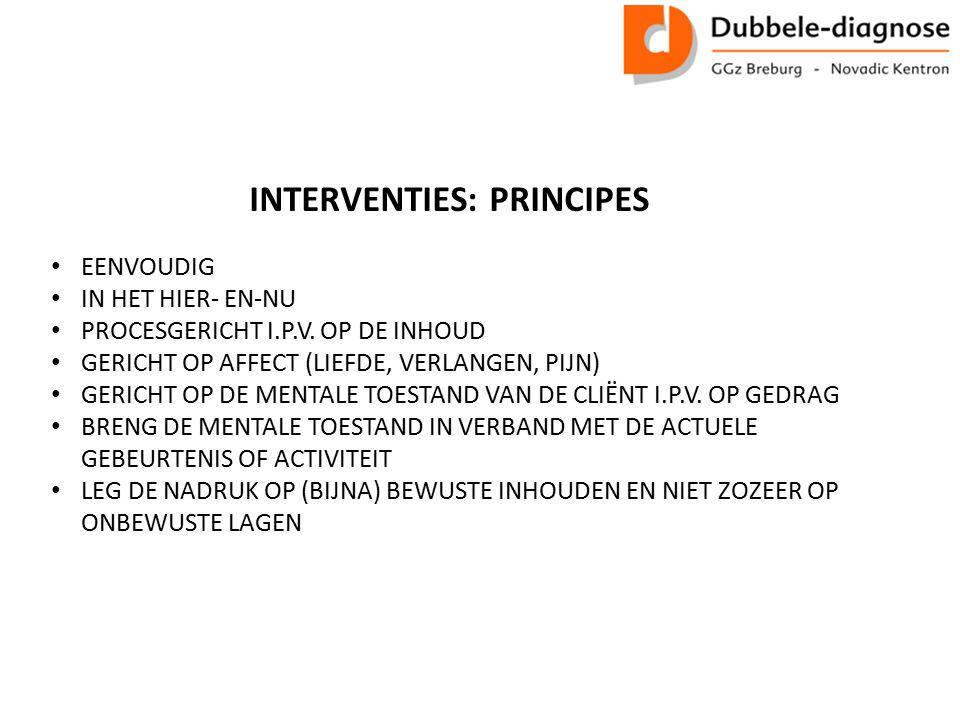 INTERVENTIES: PRINCIPES EENVOUDIG IN HET HIER- EN-NU PROCESGERICHT I.P.V.