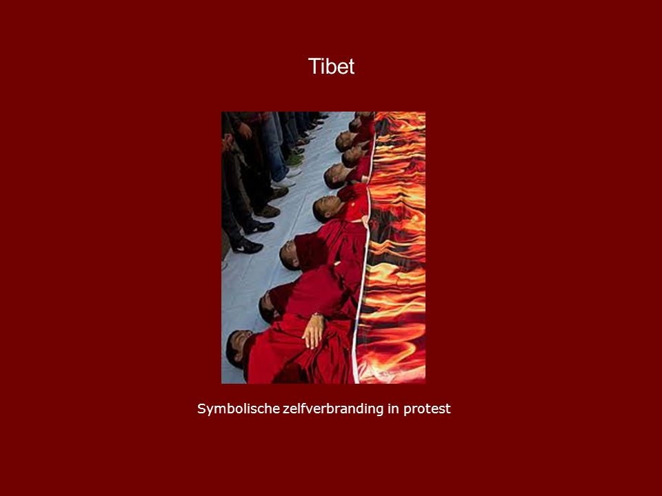 Tibet Symbolische zelfverbranding in protest