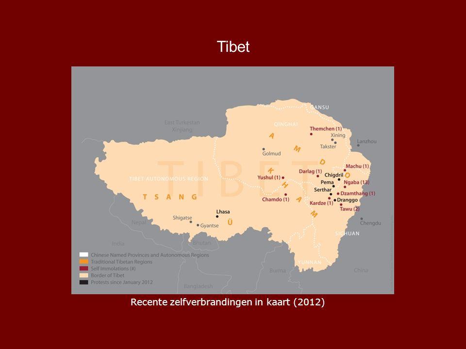 Tibet Recente zelfverbrandingen in kaart (2012)