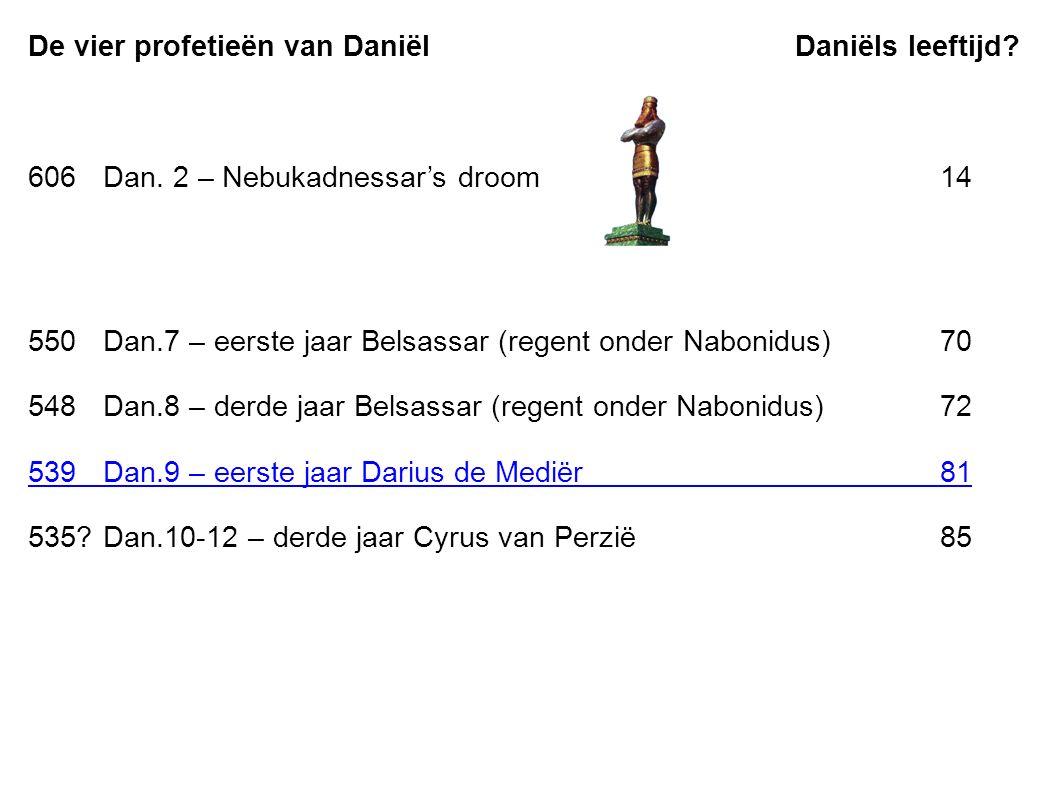 De vier profetieën van Daniël Daniëls leeftijd.606Dan.
