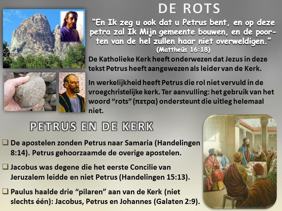 De Katholieke Kerk heeft onderwezen dat Jezus in deze tekst Petrus heeft aangewezen als leider van de Kerk.