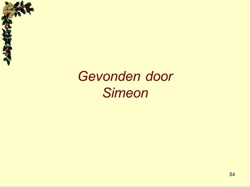 Gevonden door Simeon 54