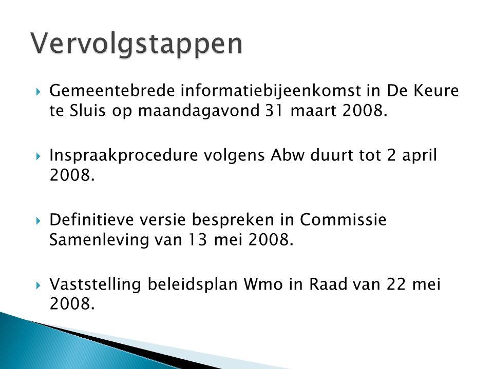  Gemeentebrede informatiebijeenkomst in De Keure te Sluis op maandagavond 31 maart 2008.