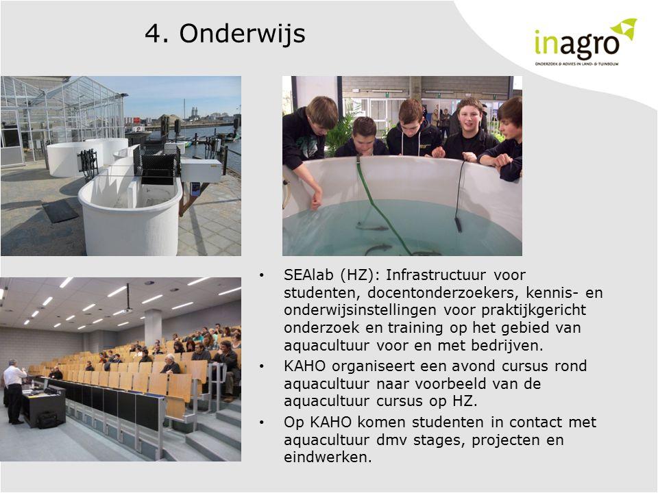 4. Onderwijs SEAlab (HZ): Infrastructuur voor studenten, docentonderzoekers, kennis- en onderwijsinstellingen voor praktijkgericht onderzoek en traini