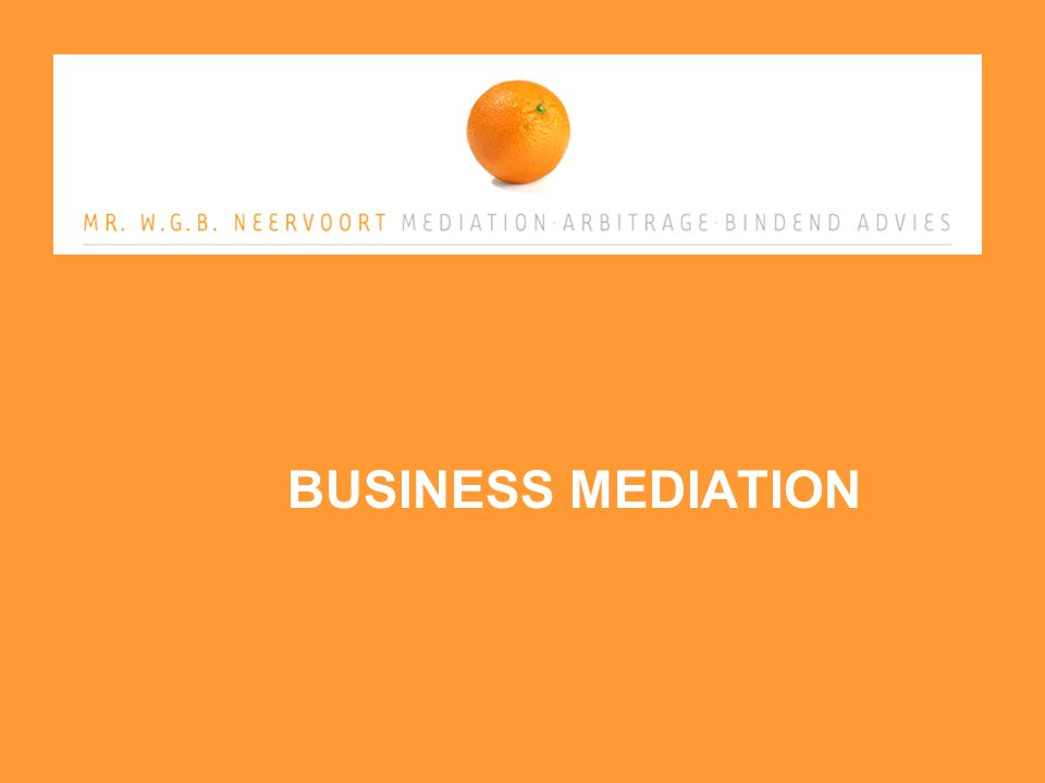BUSINESS MEDIATION