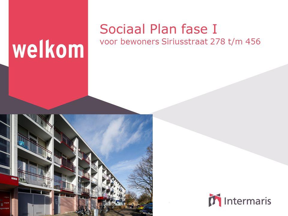 Sociaal Plan fase I voor bewoners Siriusstraat 278 t/m 456