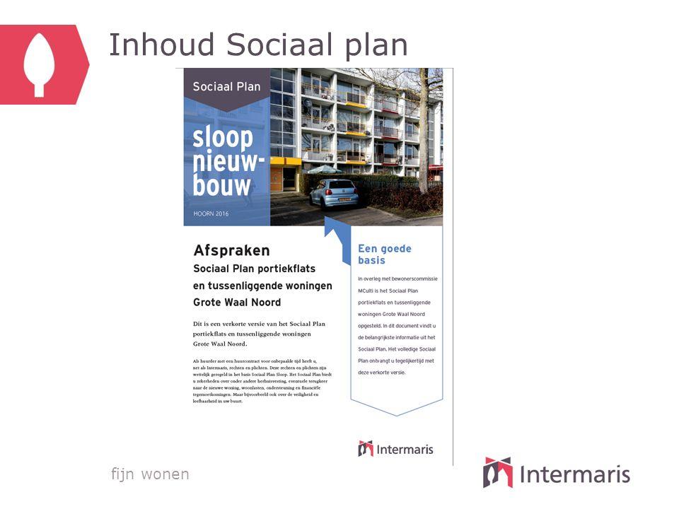 fijn wonen Inhoud Sociaal plan