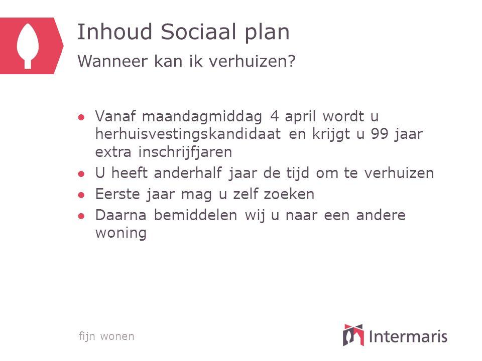 fijn wonen Inhoud Sociaal Plan Waar kan ik naartoe.