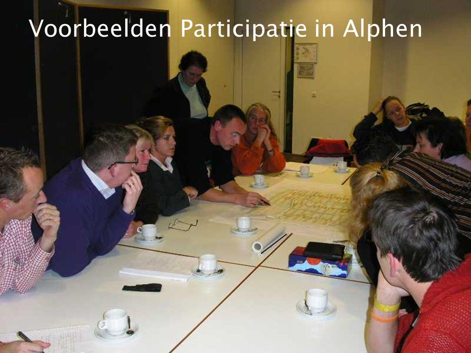 Voorbeelden Participatie in Alphen