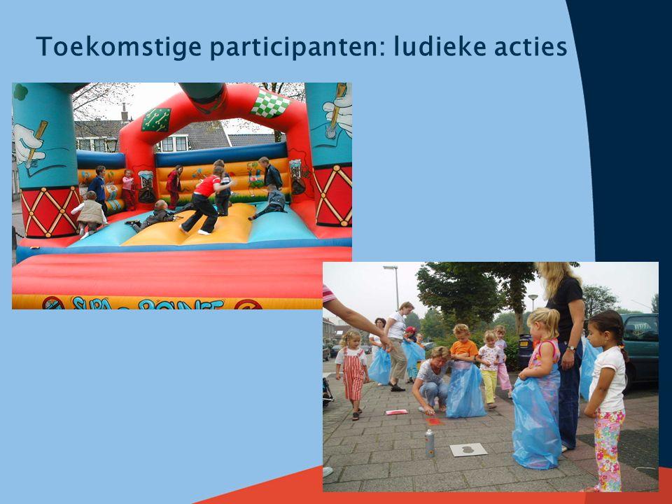 Toekomstige participanten: ludieke acties