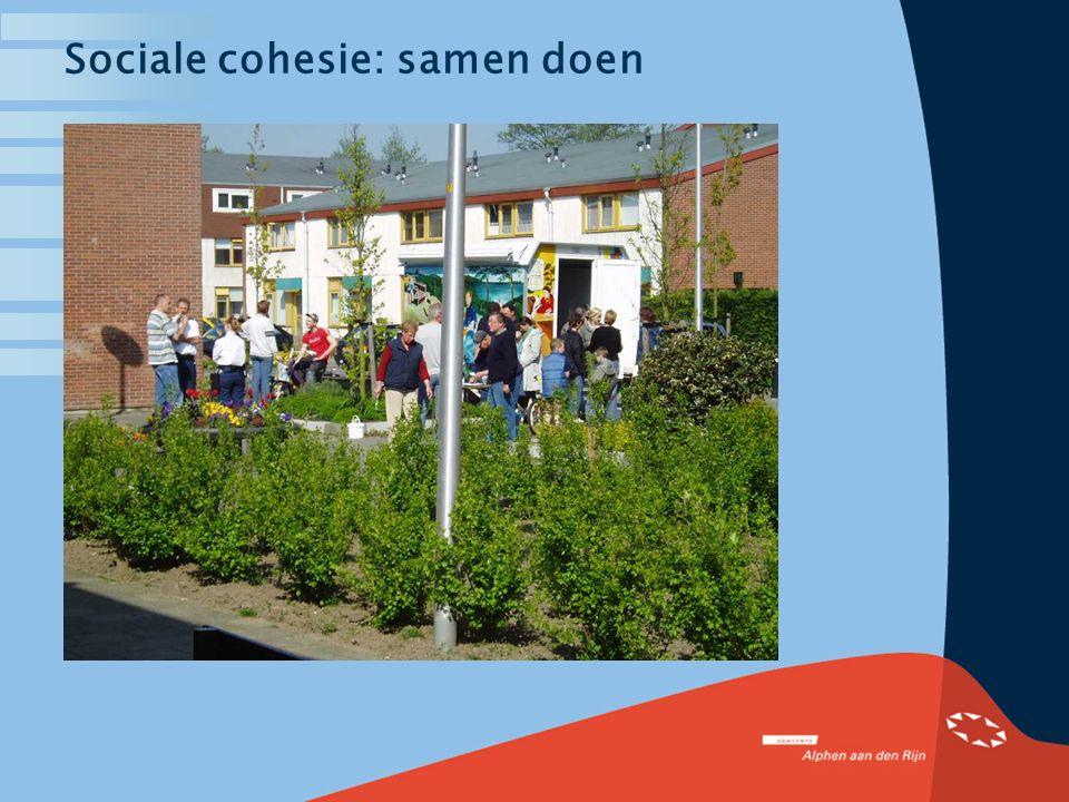 Bewonersparticipatie in Alphen aan den Rijn Het geheim van instandhouding