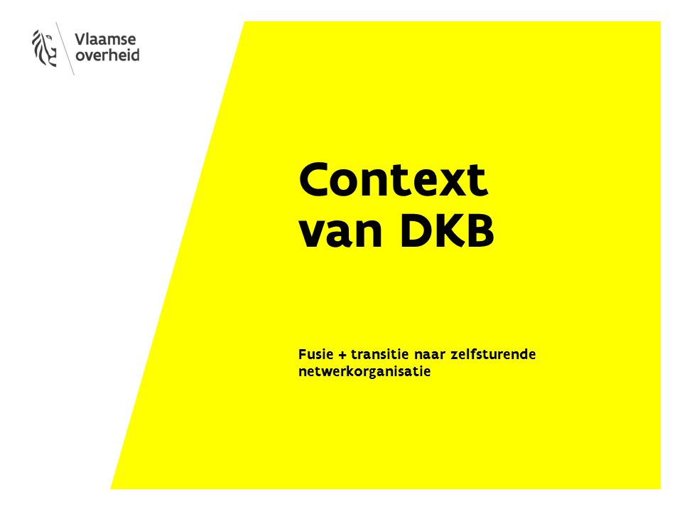 Context van DKB Fusie + transitie naar zelfsturende netwerkorganisatie