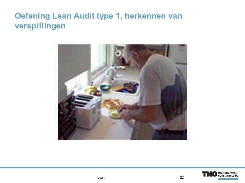 Oefening Lean Audit type 1, herkennen van verspillingen Lean22