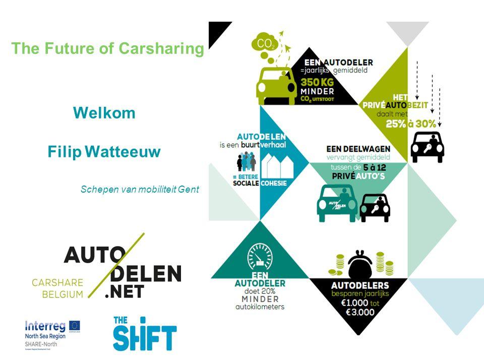 The Future of Carsharing Welkom Filip Watteeuw Schepen van mobiliteit Gent