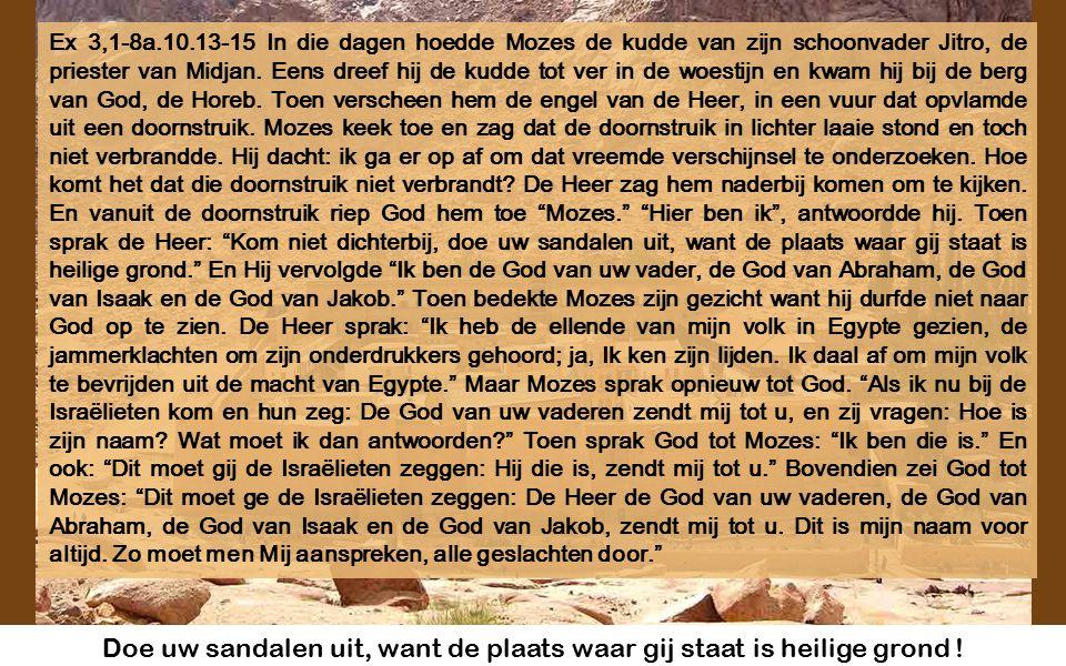 Cyclus C Derde zondag van de Vasten Derde zondag van de Vasten 28 februari 2016 Muziek: Lejà dodi (Voor u, mijn geliefde) uit de Joodse Liturgie Beelden van het Sinaïklooster, gebouwd tot herinnering van de verschijning van God aan Mozes
