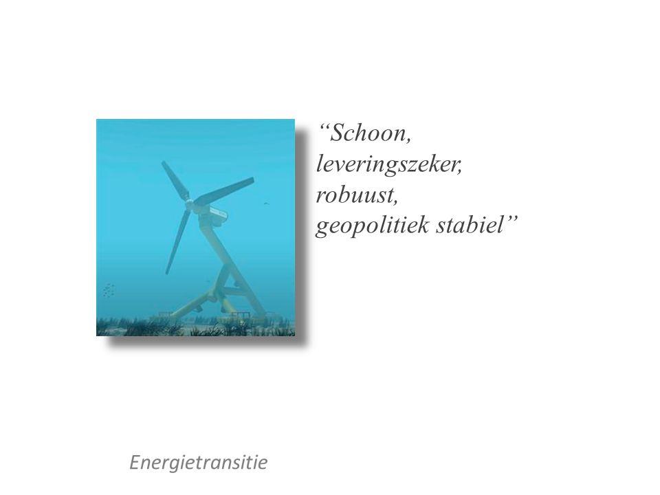 """Energietransitie """"Schoon, leveringszeker, robuust, geopolitiek stabiel"""""""