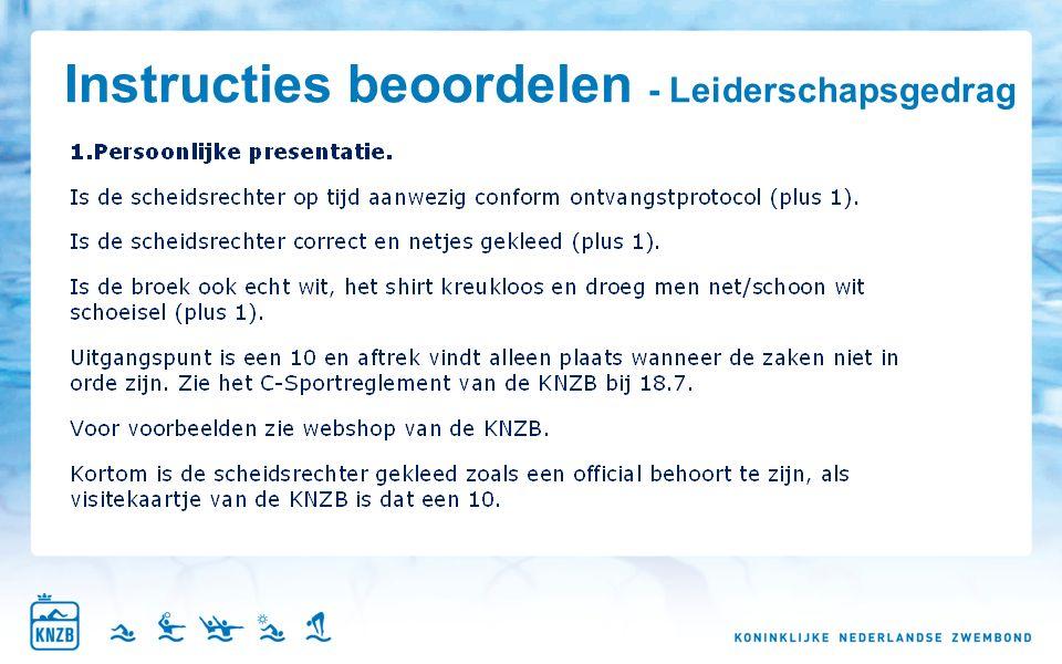 Instructies beoordelen - Leiderschapsgedrag