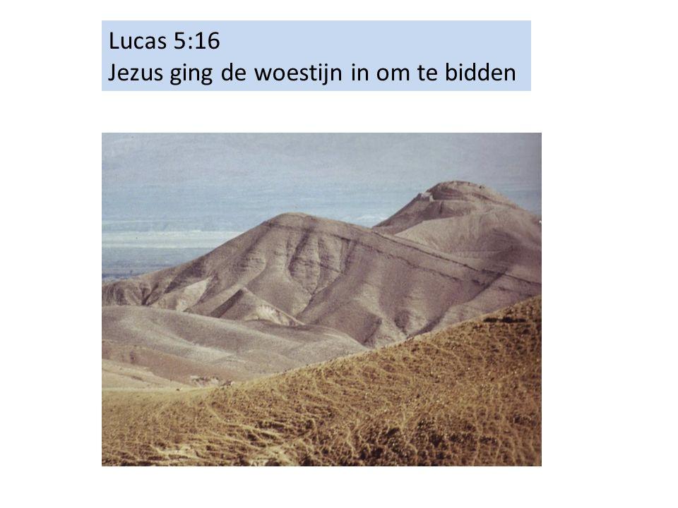 Lucas 5:16 Jezus ging de woestijn in om te bidden