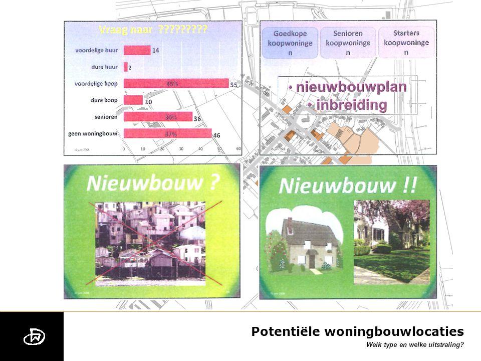 Potentiële woningbouwlocaties Welk type en welke uitstraling