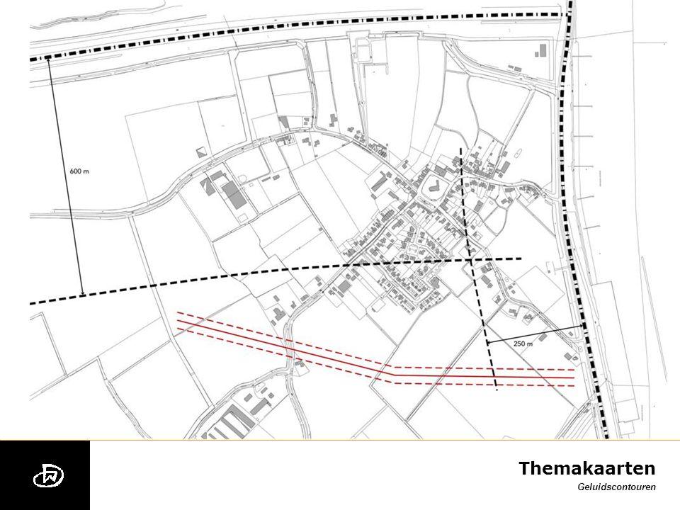 Themakaarten spuitcirkels (indicatief) contour industrielawaai AMK-kaart Provincie Zeeland
