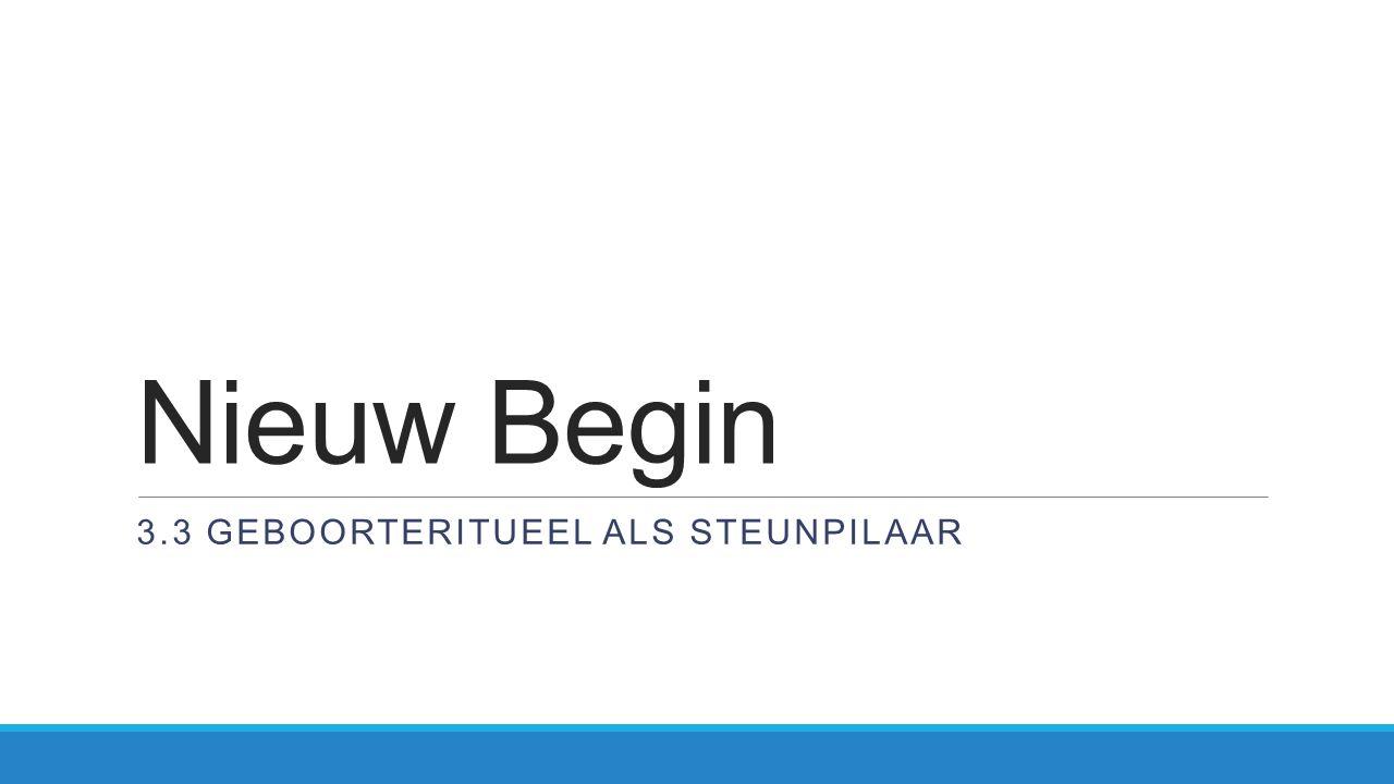 Nieuw Begin 3.3 GEBOORTERITUEEL ALS STEUNPILAAR