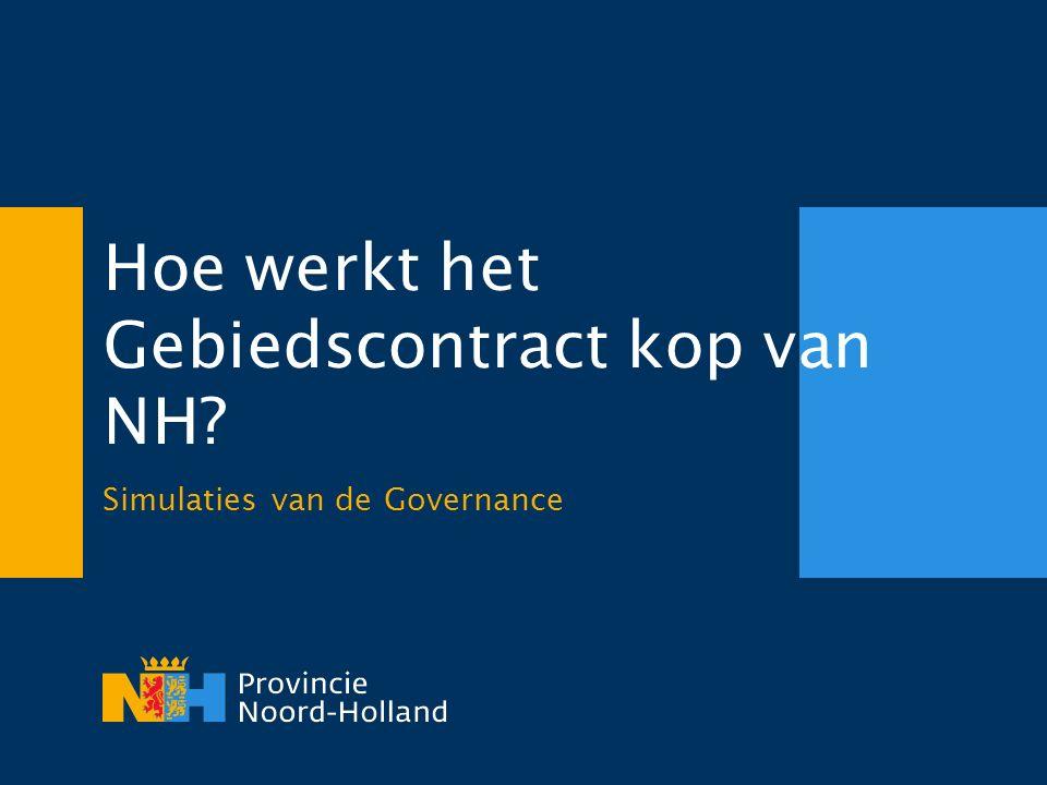 Hoe werkt het Gebiedscontract kop van NH Simulaties van de Governance