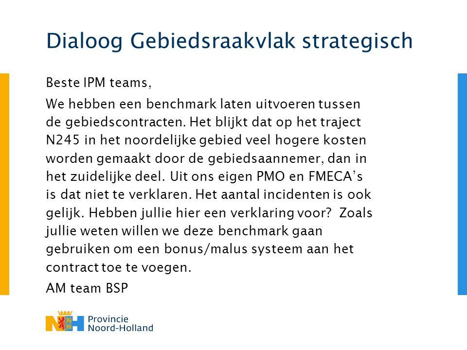 Dialoog Gebiedsraakvlak strategisch Beste IPM teams, We hebben een benchmark laten uitvoeren tussen de gebiedscontracten.