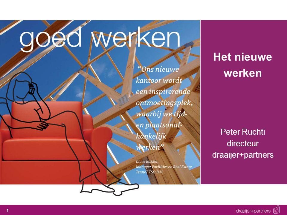 1 Het nieuwe werken Peter Ruchti directeur draaijer+partners