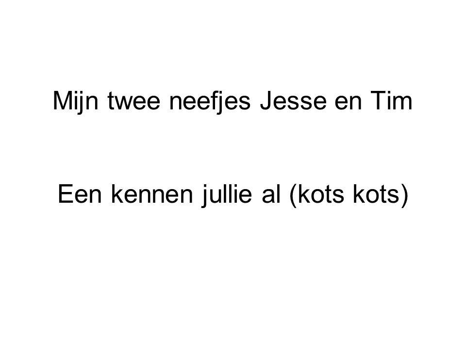 Mijn twee neefjes Jesse en Tim Een kennen jullie al (kots kots)