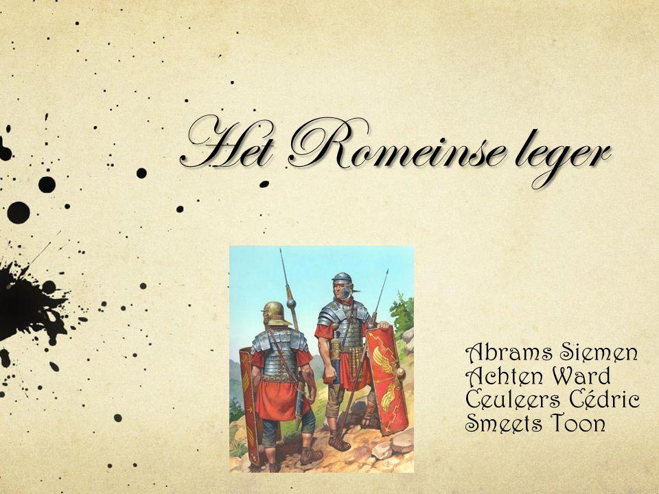 Het Romeinse leger Abrams Siemen Achten Ward Ceuleers Cédric Smeets Toon