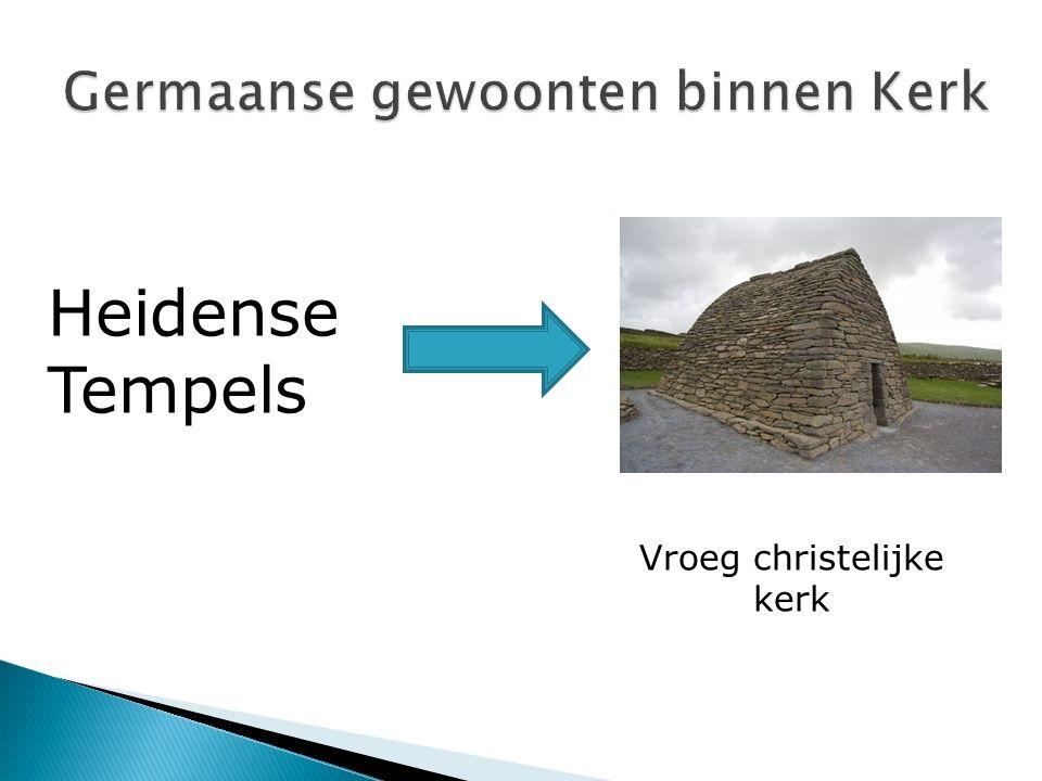 Vroeg christelijke kerk Heidense Tempels
