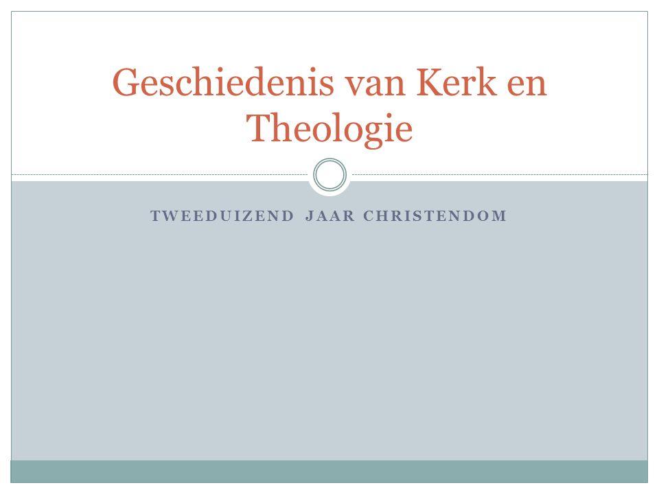 Doelstellingen studie Geschiedenis Kerk en Theologie.