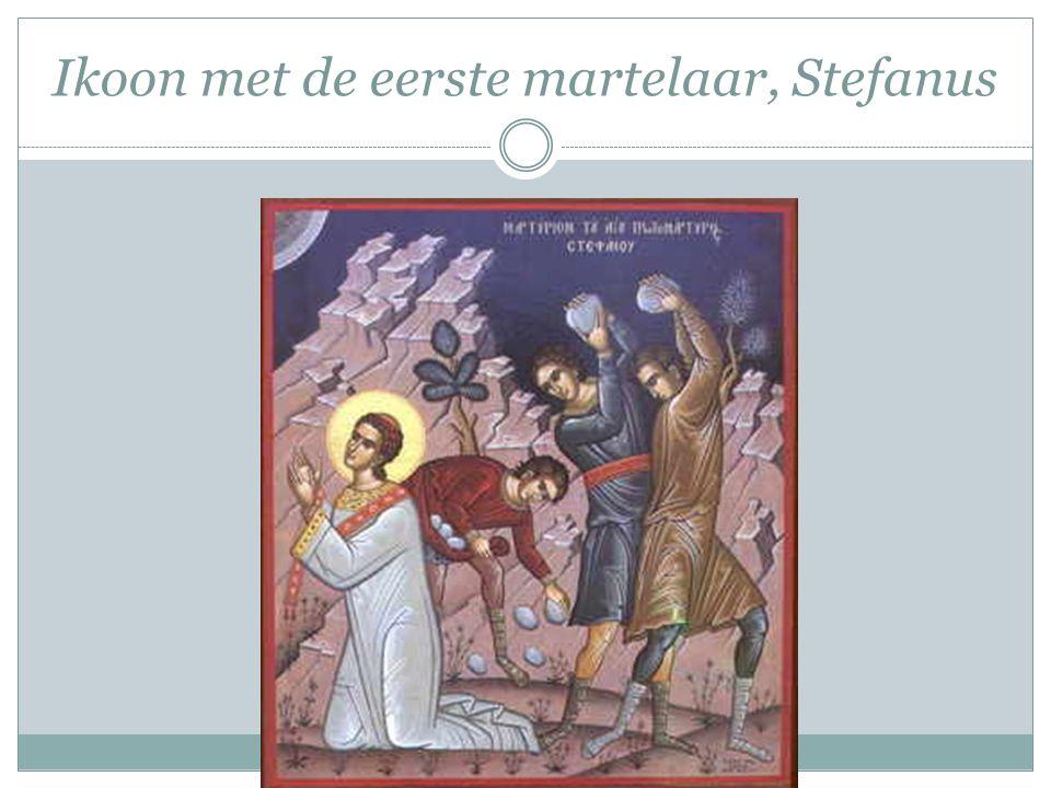 Ikoon met de eerste martelaar, Stefanus