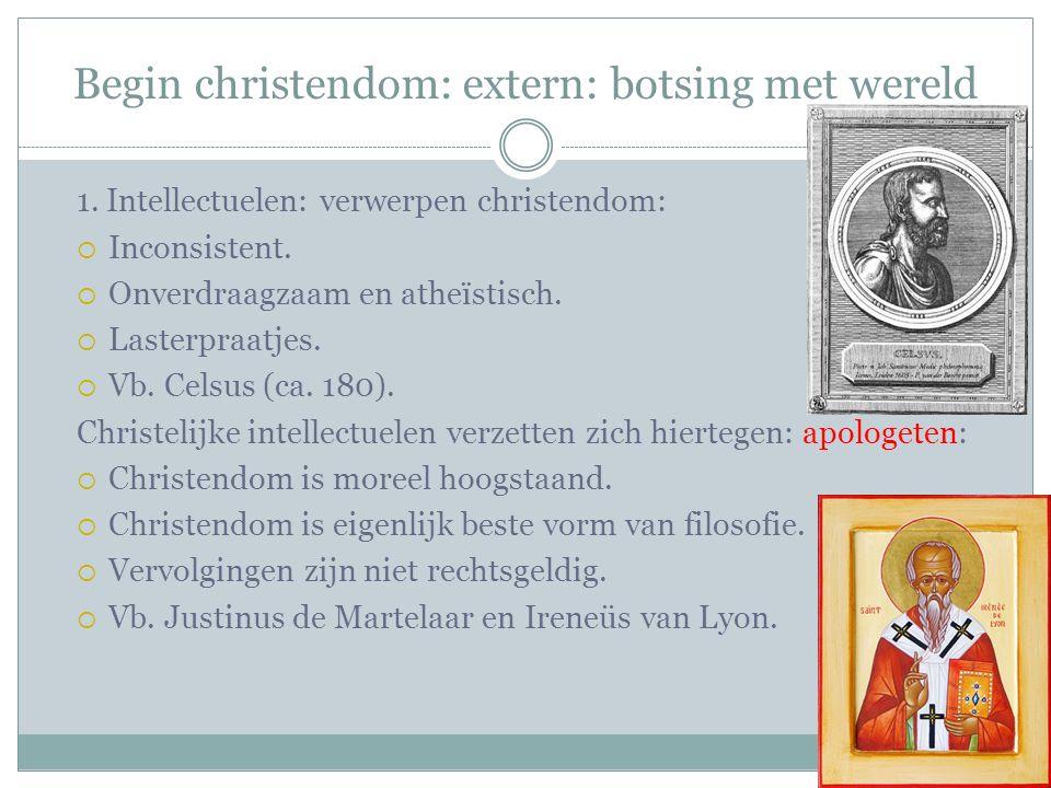 Begin christendom: extern: botsing met wereld 1.