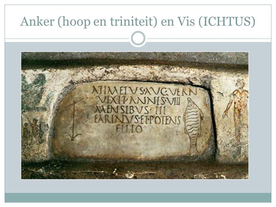 Anker (hoop en triniteit) en Vis (ICHTUS)