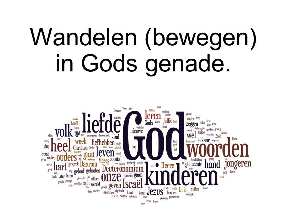 Wandelen (bewegen) in Gods genade.