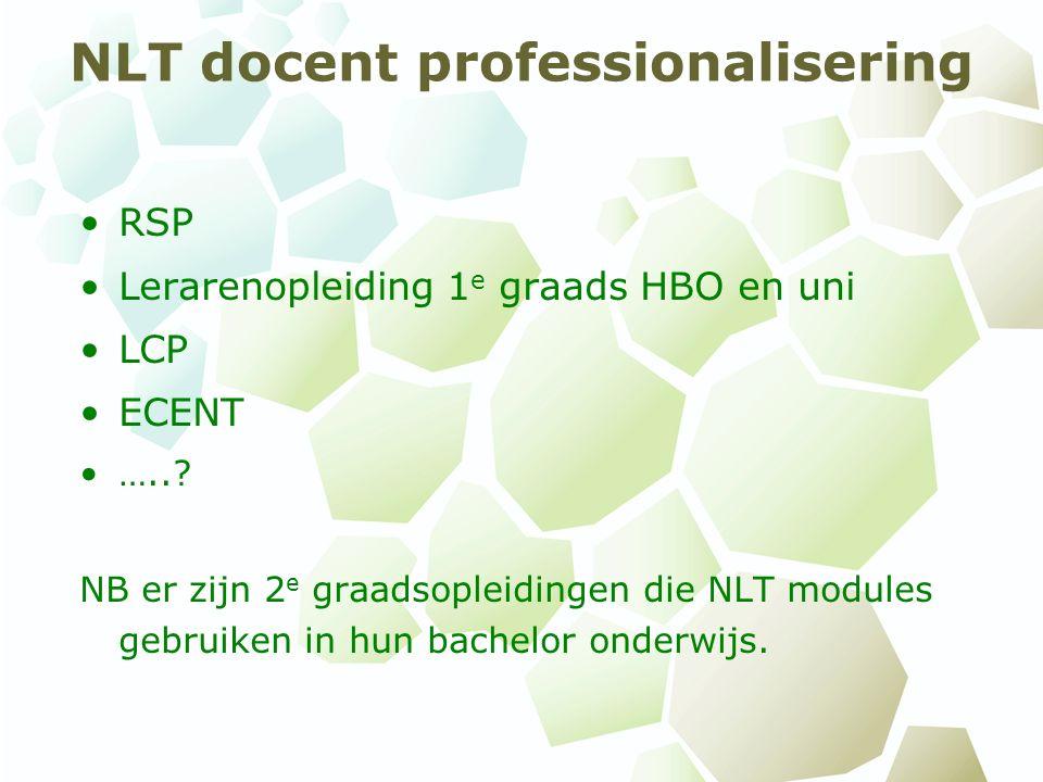 NLT docent professionalisering RSP Lerarenopleiding 1 e graads HBO en uni LCP ECENT …...