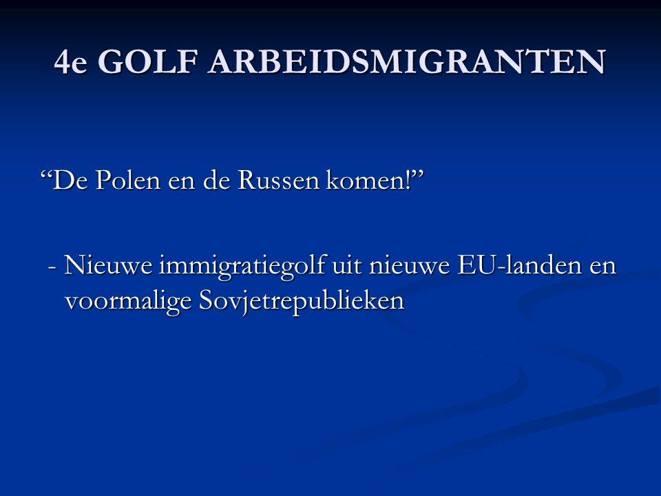 4e GOLF ARBEIDSMIGRANTEN De Polen en de Russen komen! - Nieuwe immigratiegolf uit nieuwe EU-landen en voormalige Sovjetrepublieken - Nieuwe immigratiegolf uit nieuwe EU-landen en voormalige Sovjetrepublieken