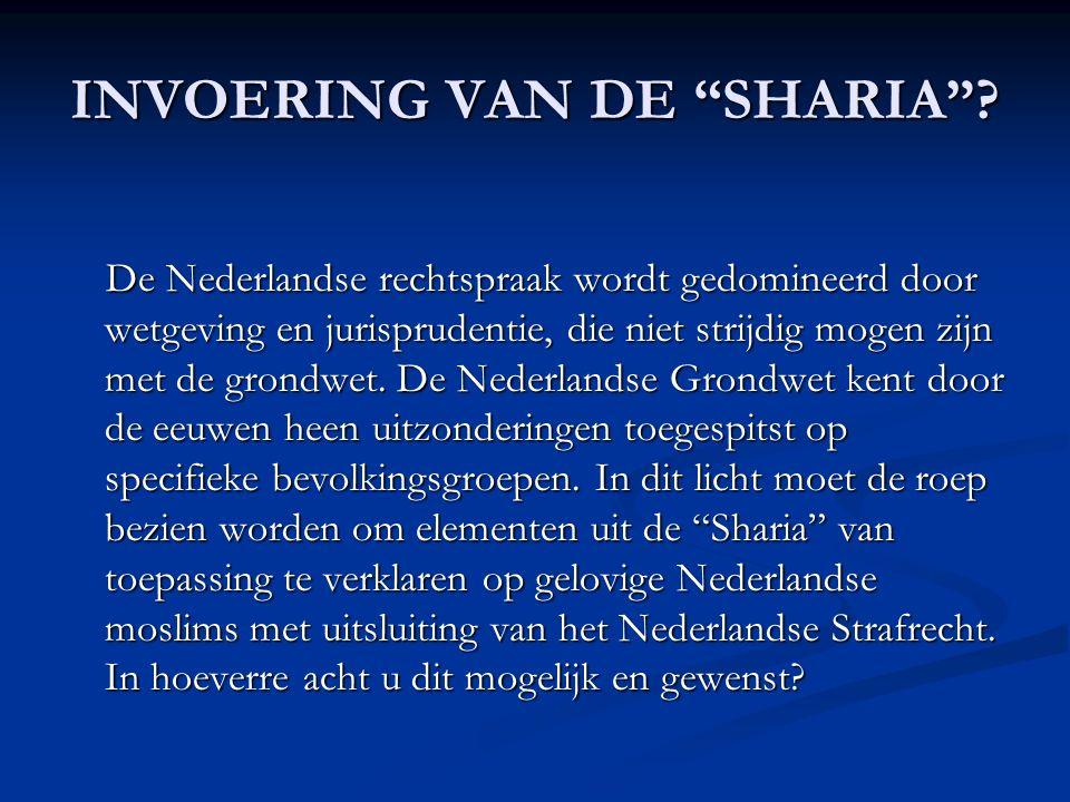INVOERING VAN DE SHARIA .