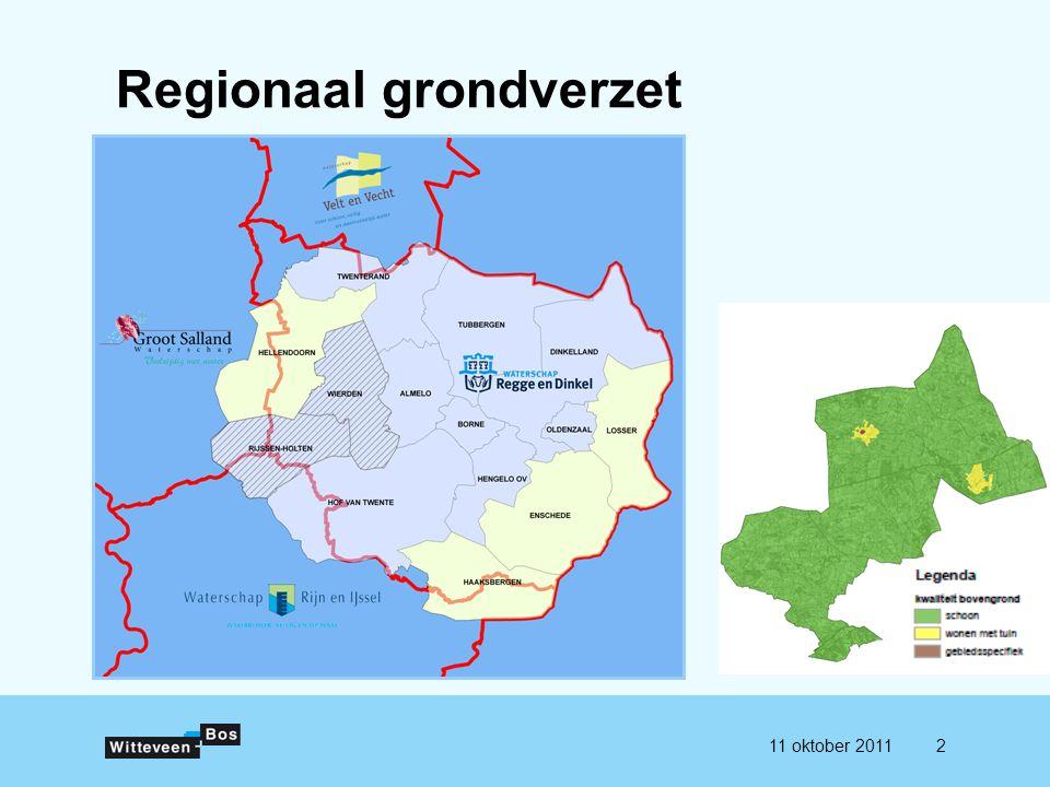 211 oktober 2011 Regionaal grondverzet