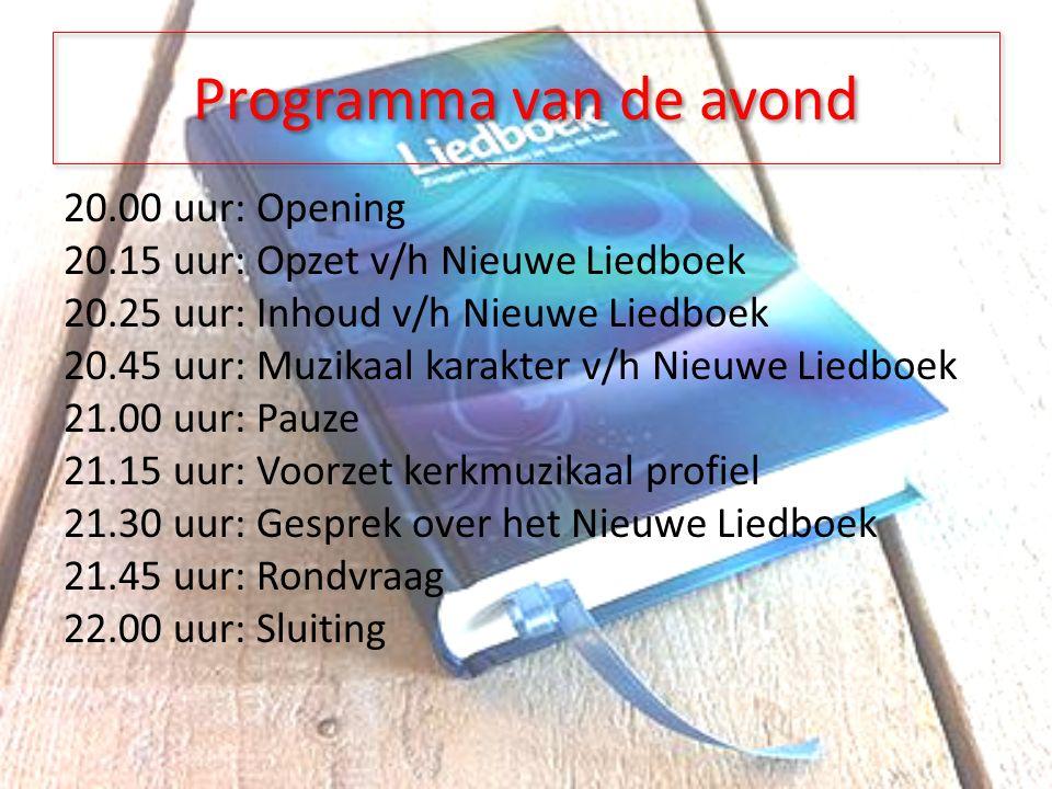 Inhoud van het Nieuwe Liedboek Wat 'verliezen' we bij invoering van het Nieuwe Liedboek.
