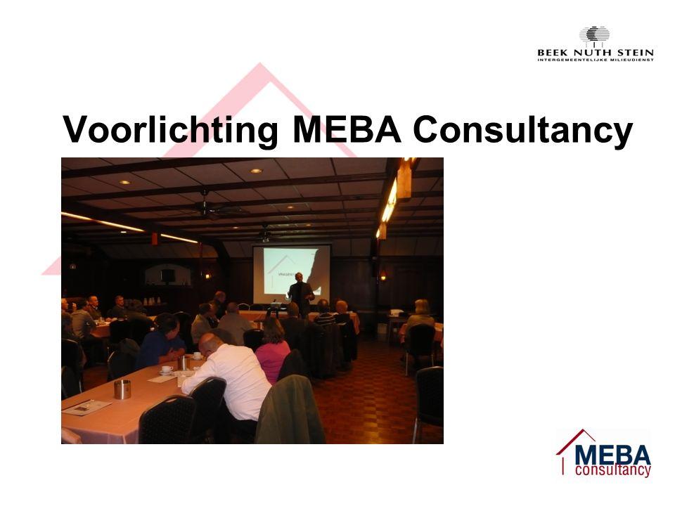 Voorlichting MEBA Consultancy