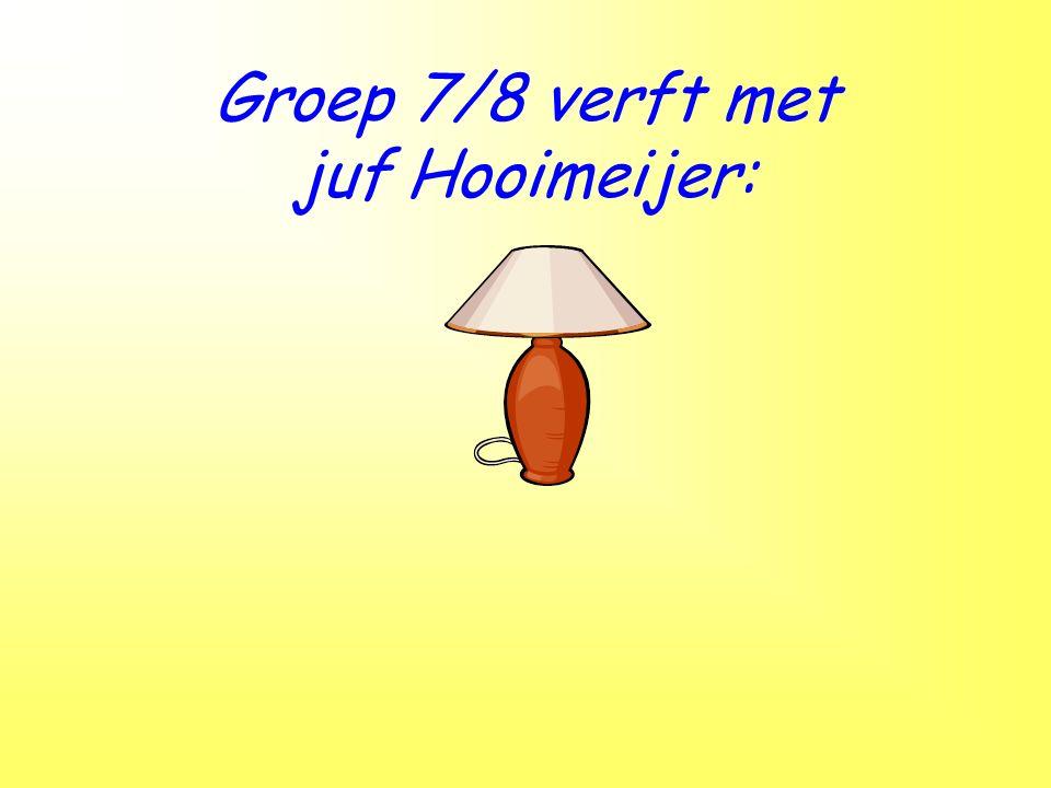 Groep 7/8 verft met juf Hooimeijer: