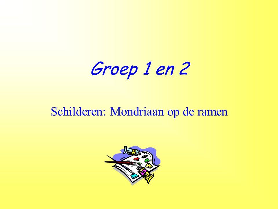 Groep 1 en 2 Schilderen: Mondriaan op de ramen