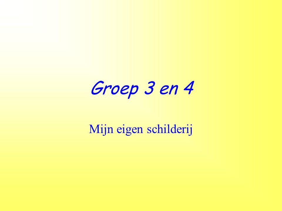 Groep 3/4 schildert de leerkrachten