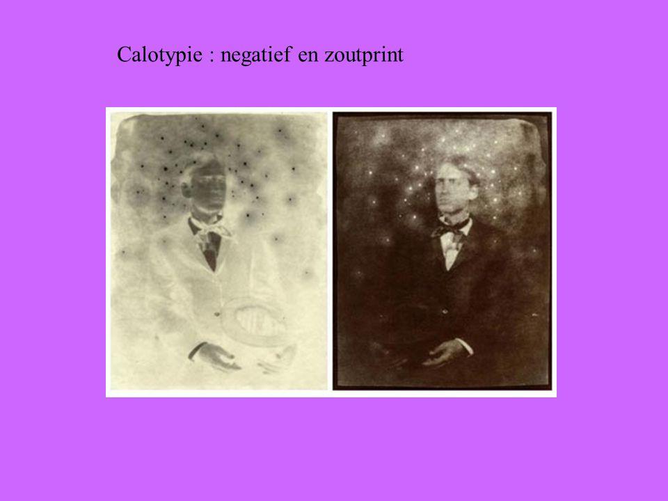 Calotypie : negatief en zoutprint