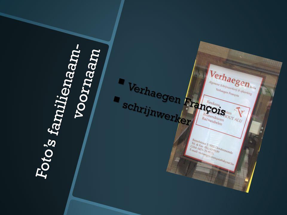 Foto's familienaam- voornaam  De Vriendt Yvan  Schilderwerken