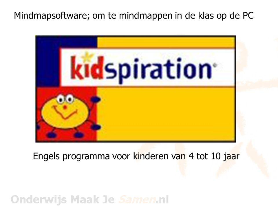 Mindmapsoftware; om te mindmappen in de klas op de PC Engels programma voor kinderen van 4 tot 10 jaar