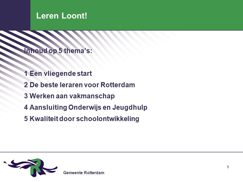 Gemeente Rotterdam Leren Loont.
