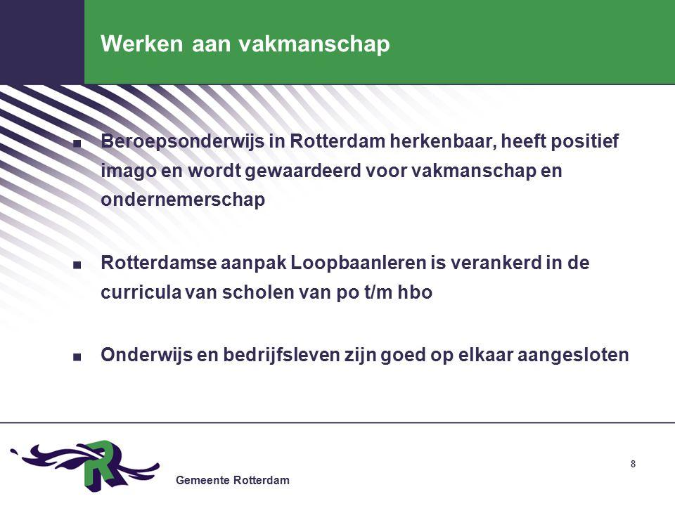 Gemeente Rotterdam Werken aan vakmanschap.